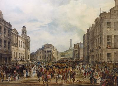 The Procession of King George IV Entering Princes Street, Edinburgh, August, 1822
