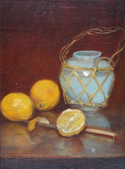 Still Life with Chinese Jar and Oranges