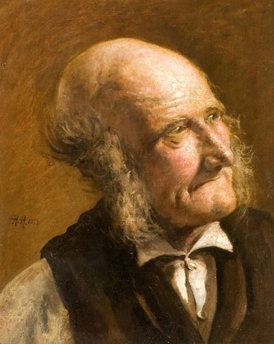 Portrait of an Old Man with Side Whiskers