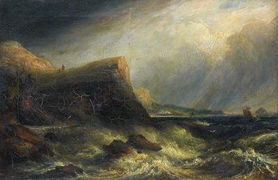 Scene on the Ayrshire Coast – Storm Passing Off