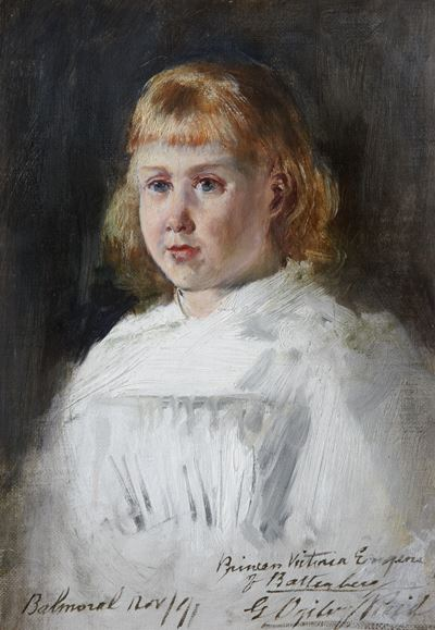 Sketch of Princess Victoria Eugenie of Battenberg (1887–1969)