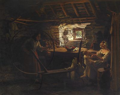 A Welsh Interior, Spinning