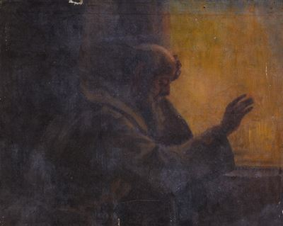 Study for a Monk by a Window
