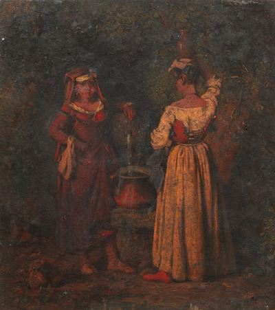 Two Women Gathering Water