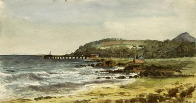 The Beach, Invercloy, Arran, October 1902