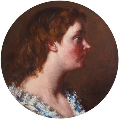 Portrait of a Girl in Profile