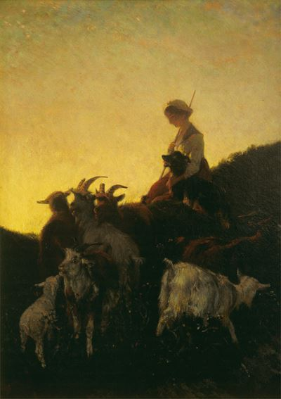 Sunset, the Goatherd