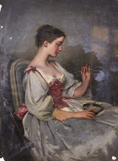 Portrait of a Woman with a Bowl