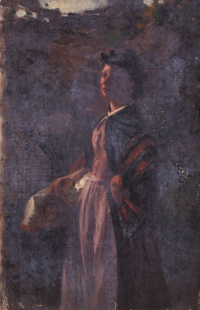 Portrait of a Woman in Three-Quarter View
