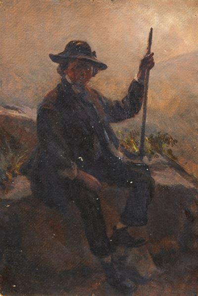 Portrait of a Man with a Stick