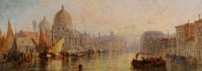 Entrance to the Grand Canal, Venice, Sunset