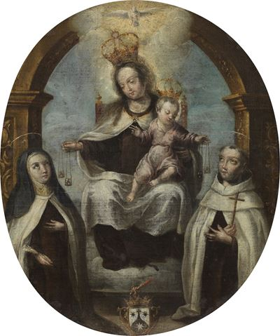 Virgin and Child between Saint Claire and Saint Dominic