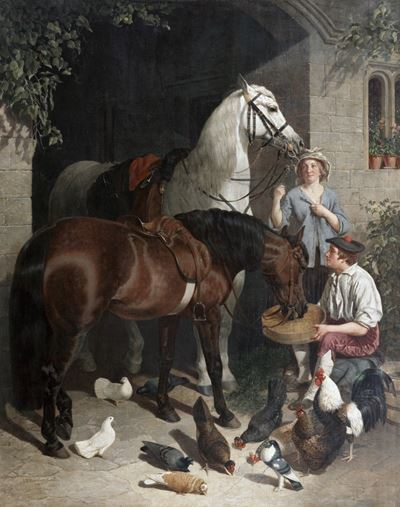Feeding the Horses (Horses, Figures and Poultry)