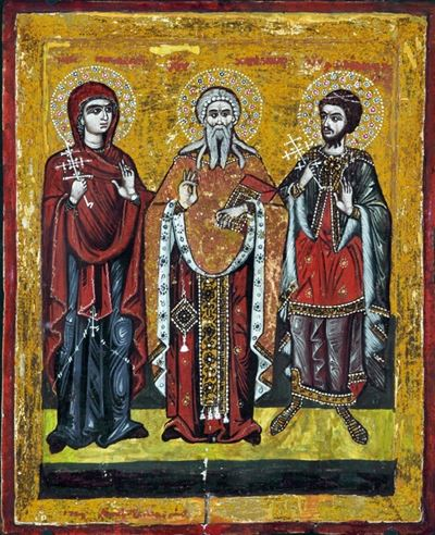 Saints Paraskevi, Charalambos and Theodore Tyro