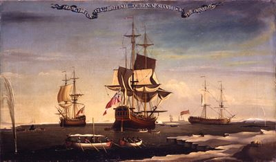 The Hull Whaling Fleet of Sir Samuel Standidge ('Berry', 'Britannia' and 'British Queen')
