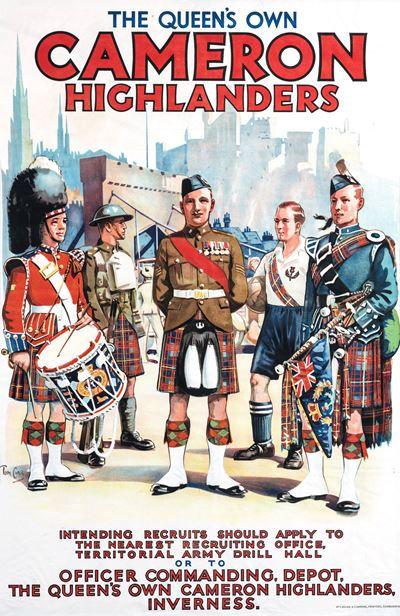 Recruiting Poster: The Queen's Own Cameron Highlanders