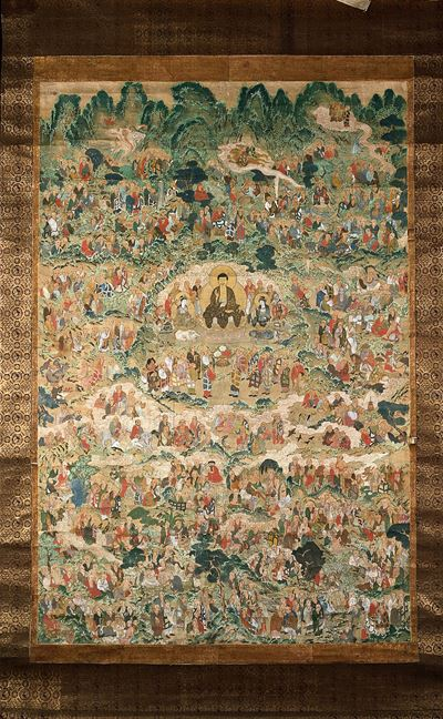 The Buddha with Arhats
