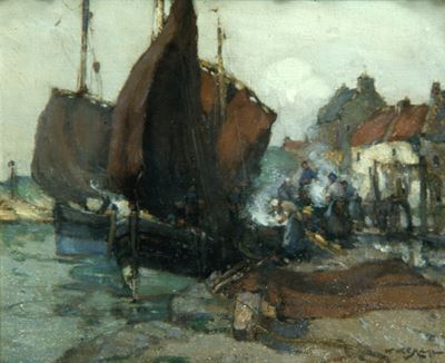 East Coast Harbour Scene