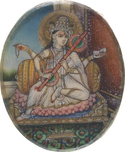 Saraswati, the Hindu Goddess of Learning and Knowledge and the Wife of Brahma