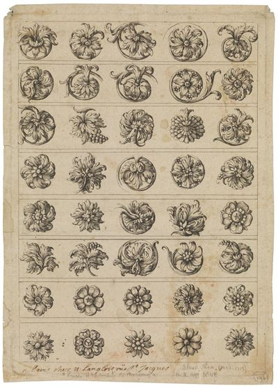 Forty Ornamental Fleurons