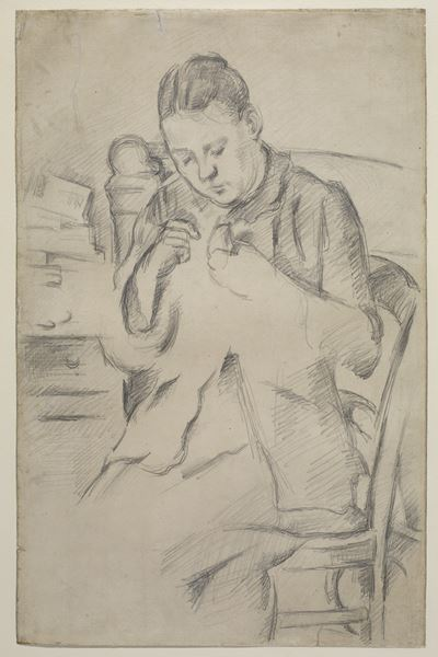 Hortense Fiquet (Madame Cezanne) Sewing